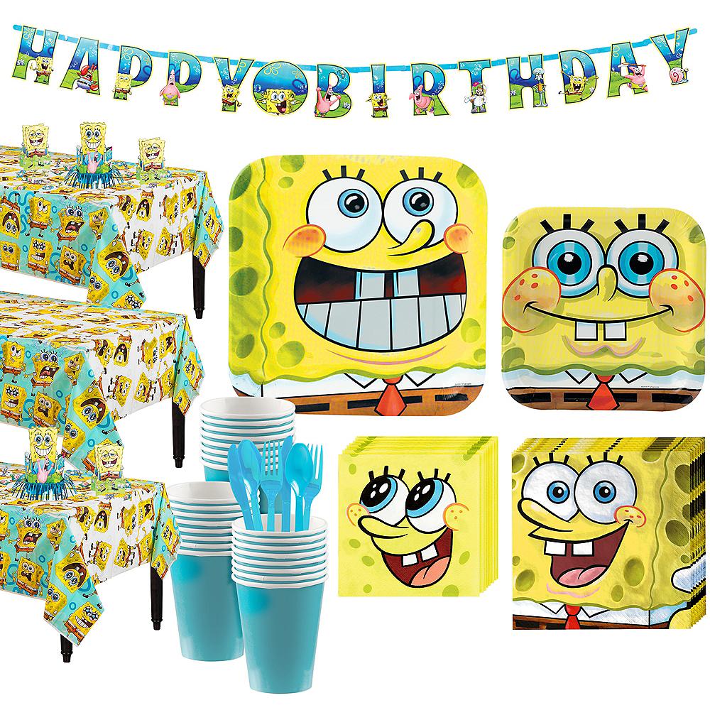 SpongeBob Tableware Party Kit for 24 Guests Image #1