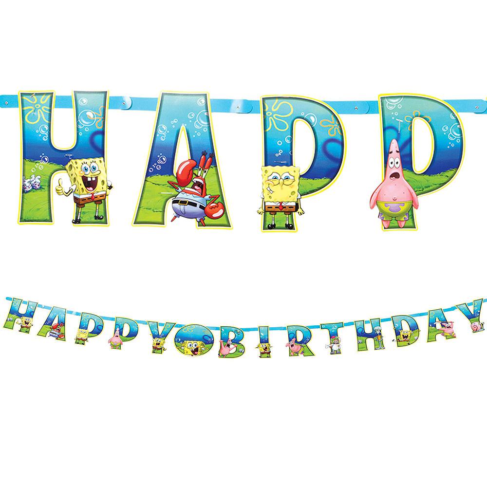 SpongeBob Tableware Party Kit for 24 Guests Image #10
