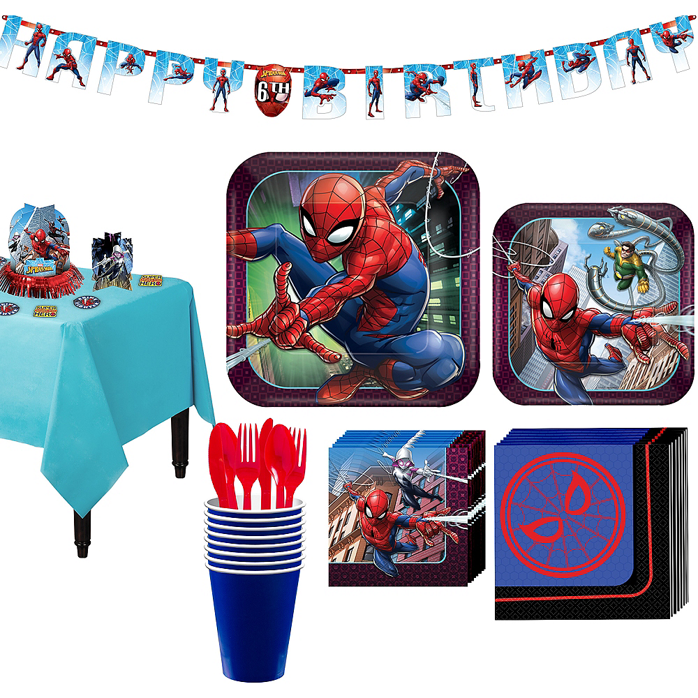 Ultimate Spider-Man Tableware Party Kit for 8 Guests Image #1