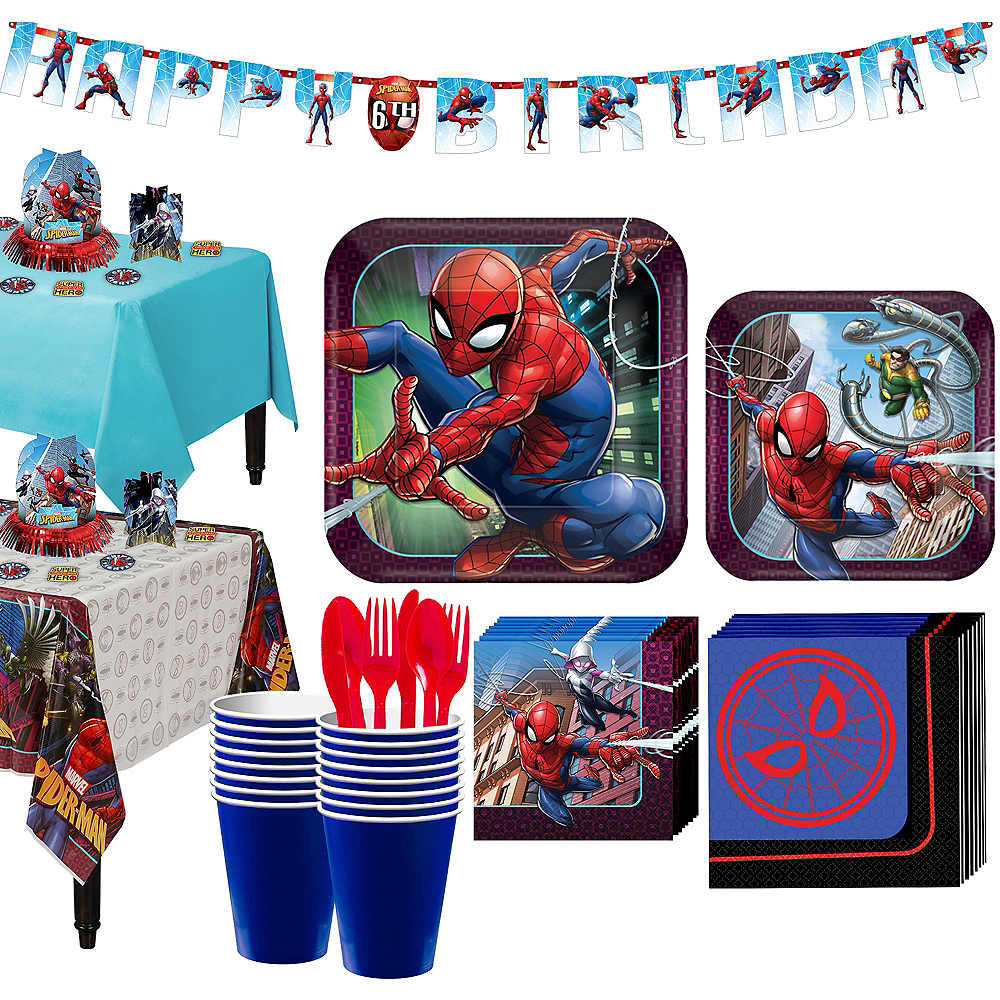 Ultimate Spider-Man Tableware Party Kit for 16 Guests Image #1