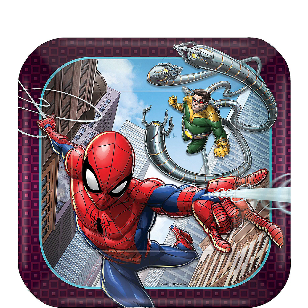 Ultimate Spider-Man Tableware Party Kit for 16 Guests Image #2