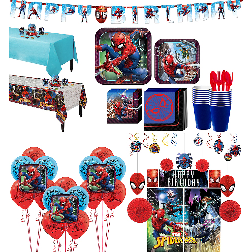 Ultimate Spider-Man Tableware Ultimate Kit for 16 Guests Image #1