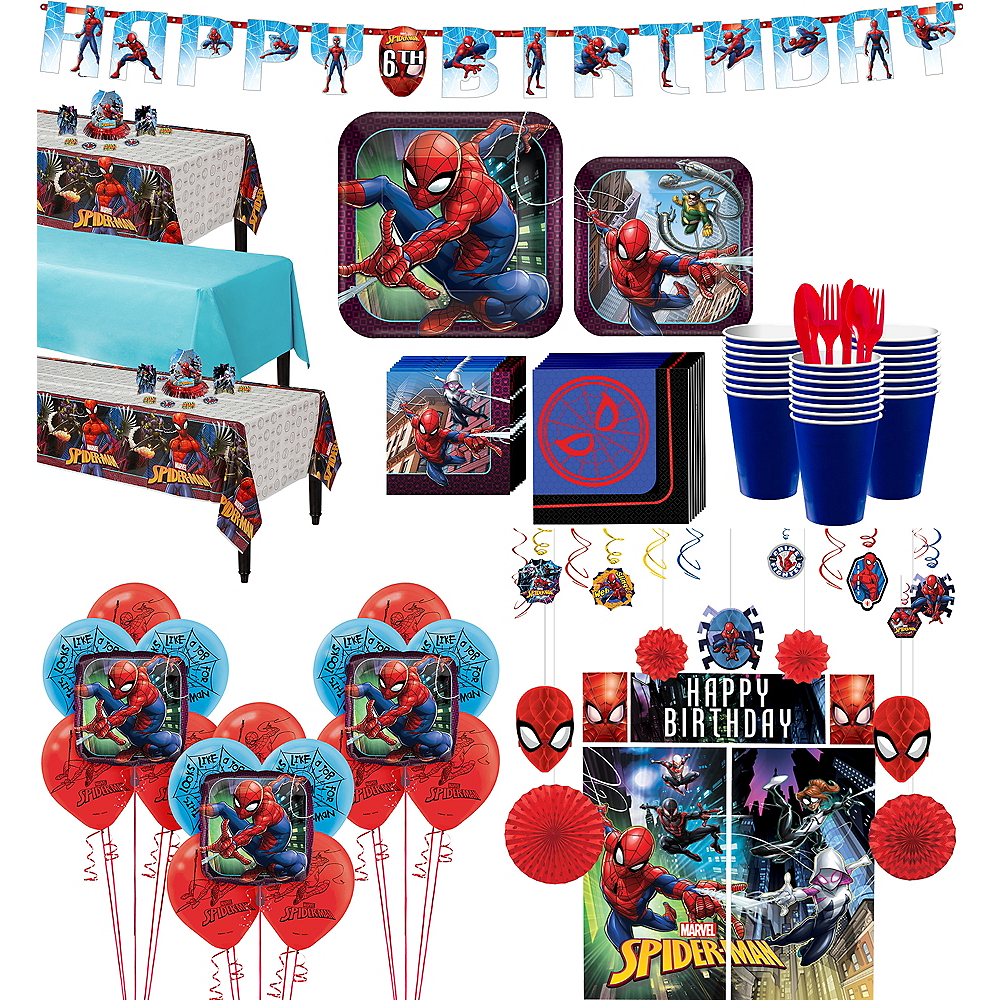 Ultimate Spider-Man Tableware Ultimate Kit for 24 Guests Image #1