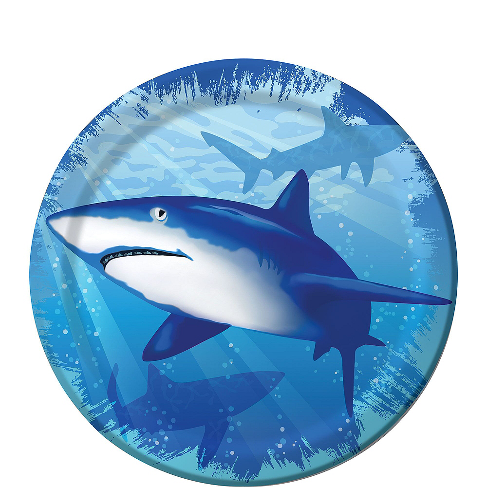 Shark Tableware Party Kit for 16 Guests Image #2