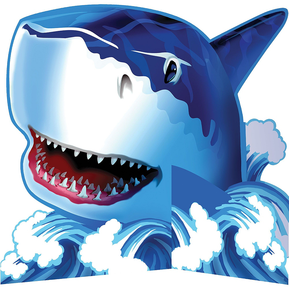 Shark Tableware Party Kit for 16 Guests Image #10