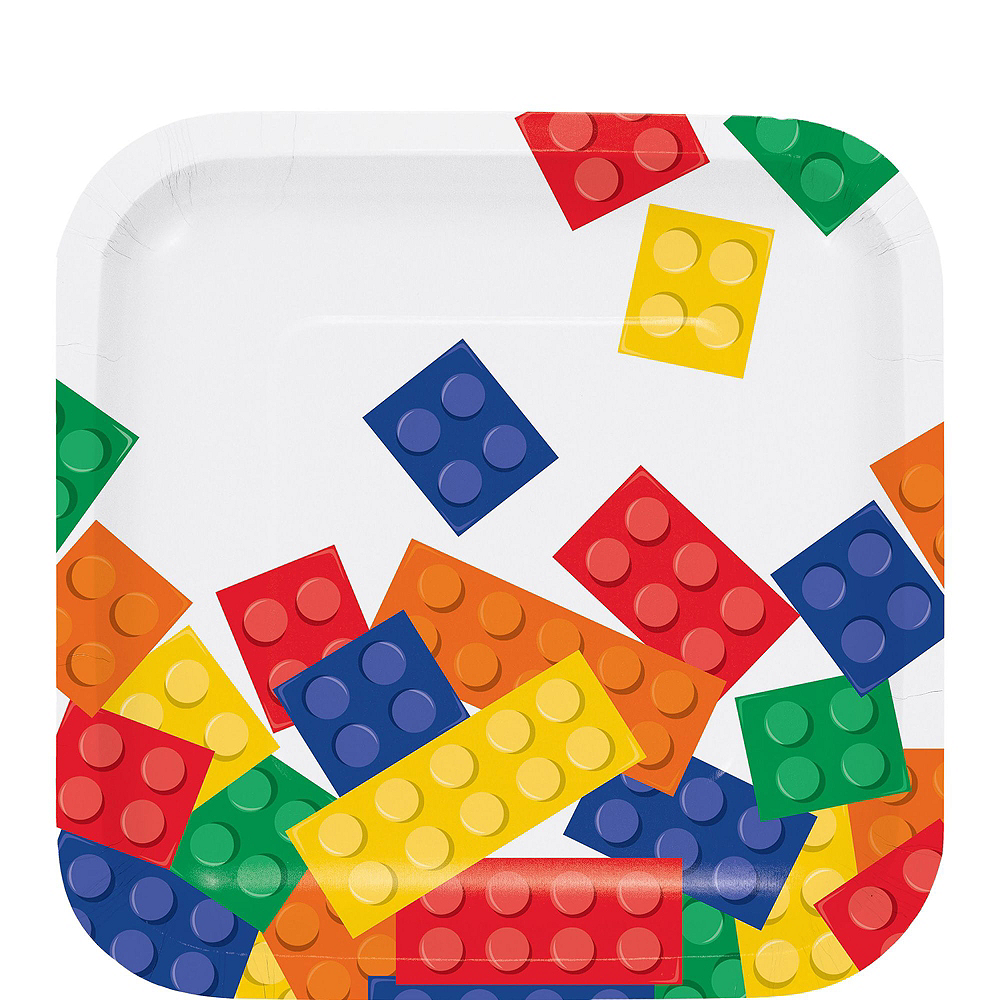 Building Blocks Tableware Party Kit for 16 Guests Image #2