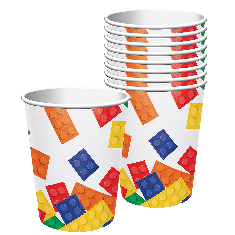 Building Blocks Tableware Party Kit for 16 Guests Image #6