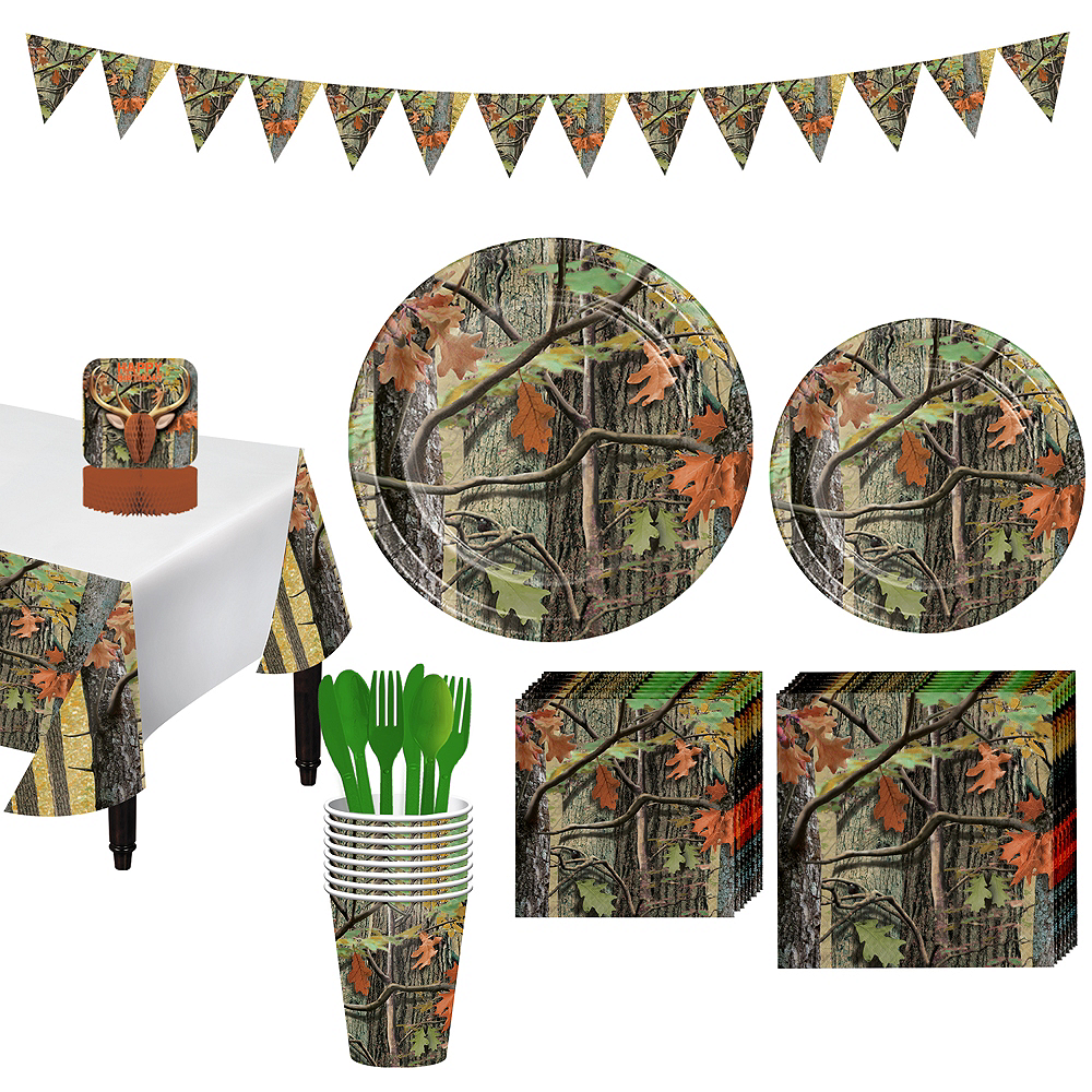 Hunting Camo Tableware Party Kit for 8 Guests Image #1