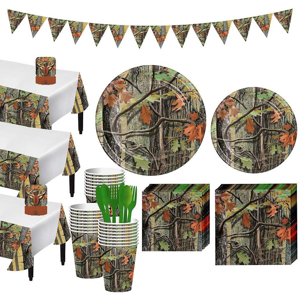 Hunting Camo Tableware Party Kit for 24 Guests Image #1
