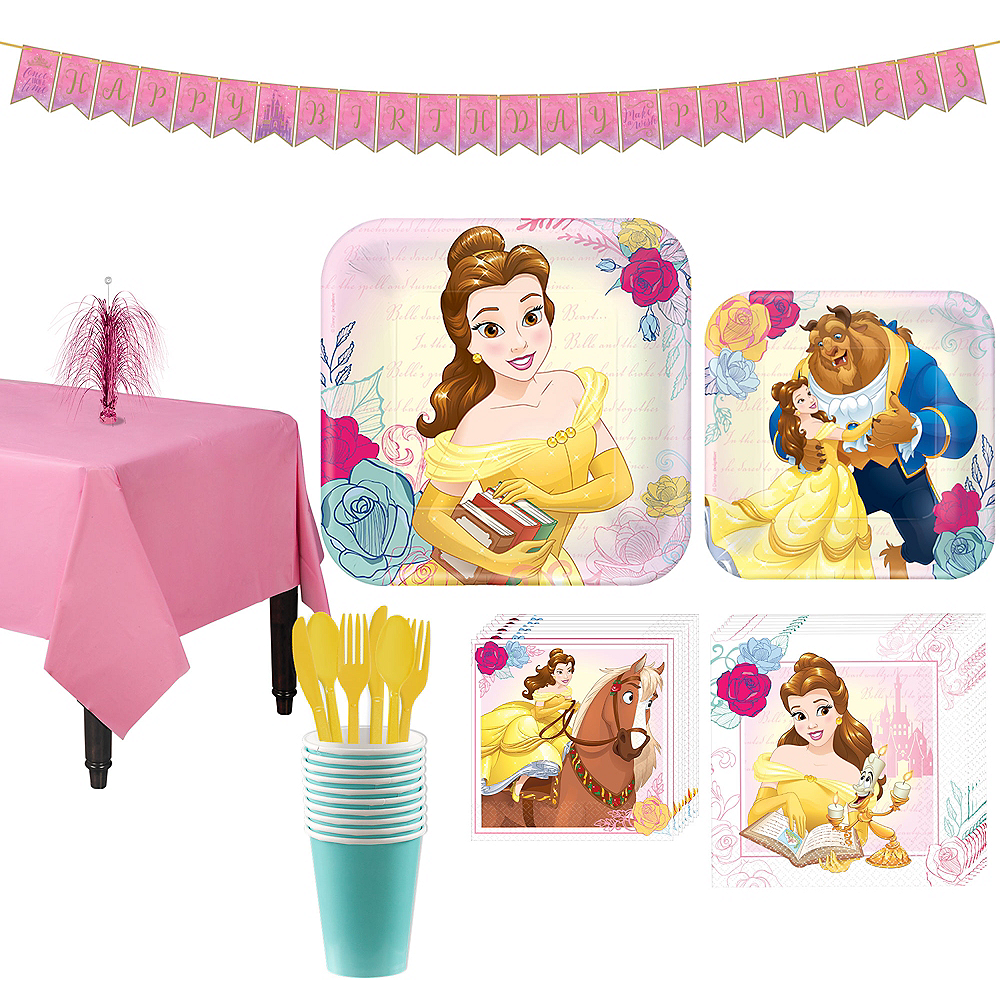 Beauty and the Beast Tableware Party Kit for 8 Guests Image #1