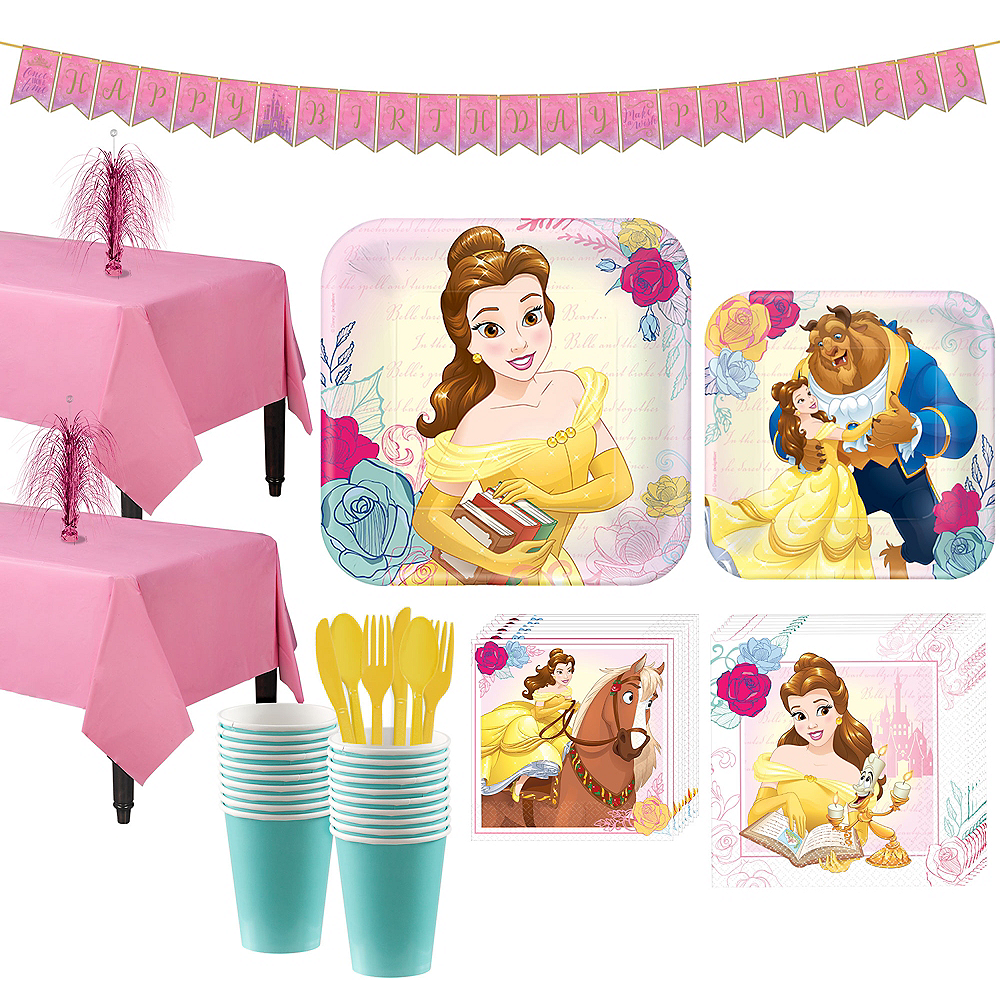 Beauty and the Beast Tableware Party Kit for 16 Guests Image #1
