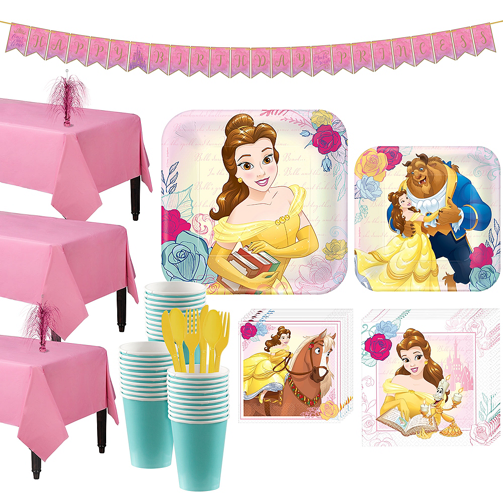 Nav Item for Beauty and the Beast Tableware Party Kit for 24 Guests Image #1