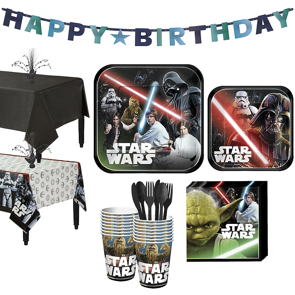 Star Wars Tableware Party Kit for 16 Guests Image #1
