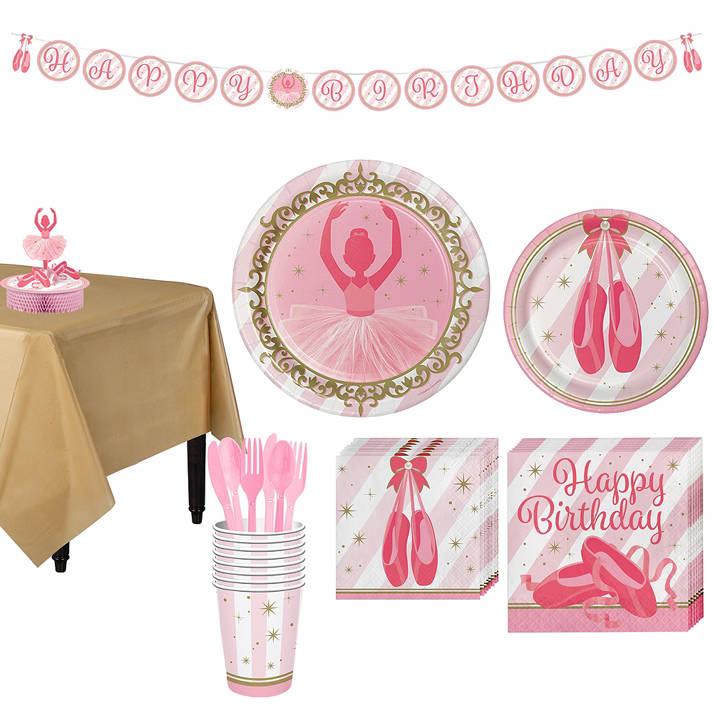 Ballerina Tableware Party Kit for 8 Guests Image #1