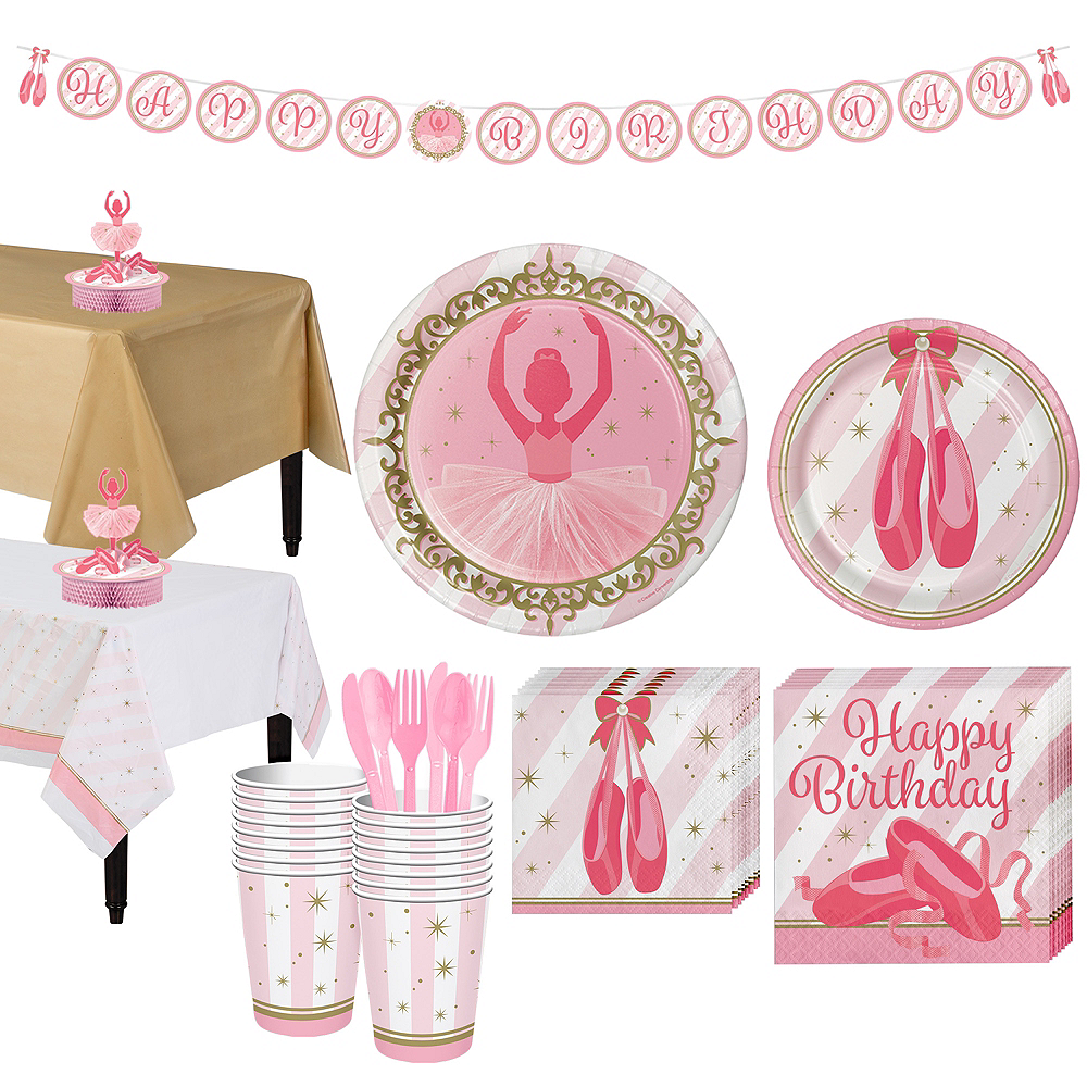 Ballerina Tableware Party Kit for 16 Guests Image #1