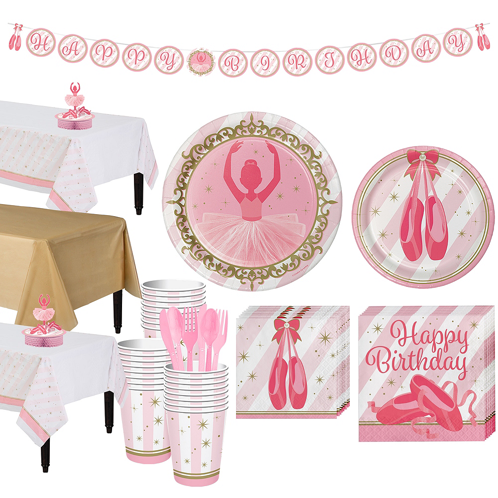Ballerina Tableware Party Kit for 24 Guests Image #1