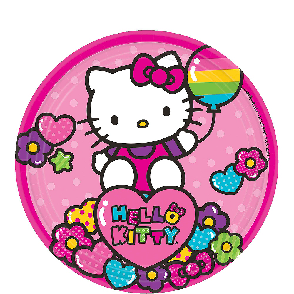 Rainbow Hello Kitty Tableware Party Kit for 16 Guests Image #2