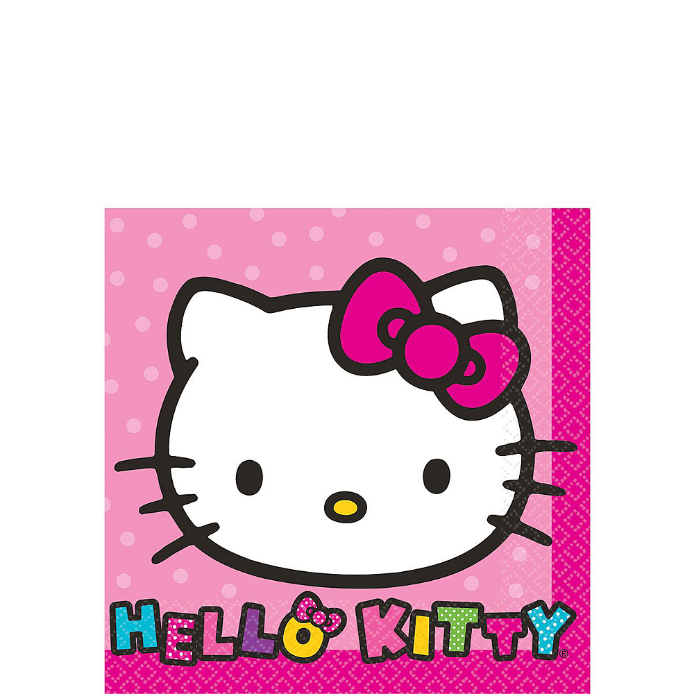 Rainbow Hello Kitty Tableware Party Kit for 16 Guests Image #4