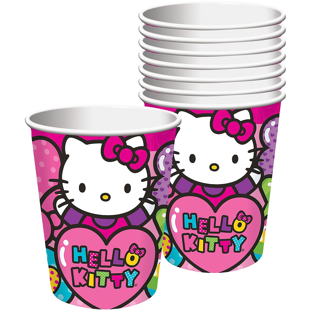 Rainbow Hello Kitty Tableware Party Kit for 16 Guests Image #6