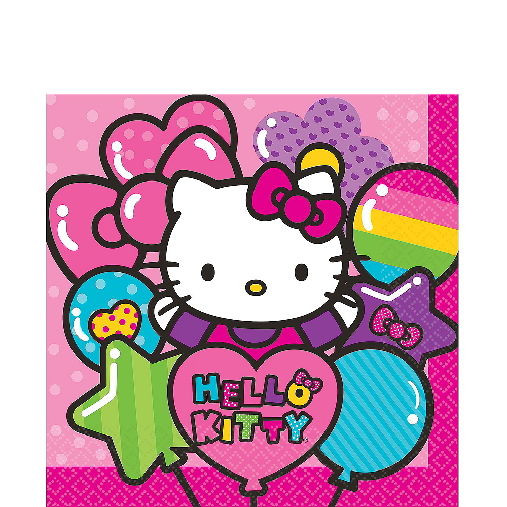 Rainbow Hello Kitty Tableware Ultimate Kit for 16 Guests Image #5