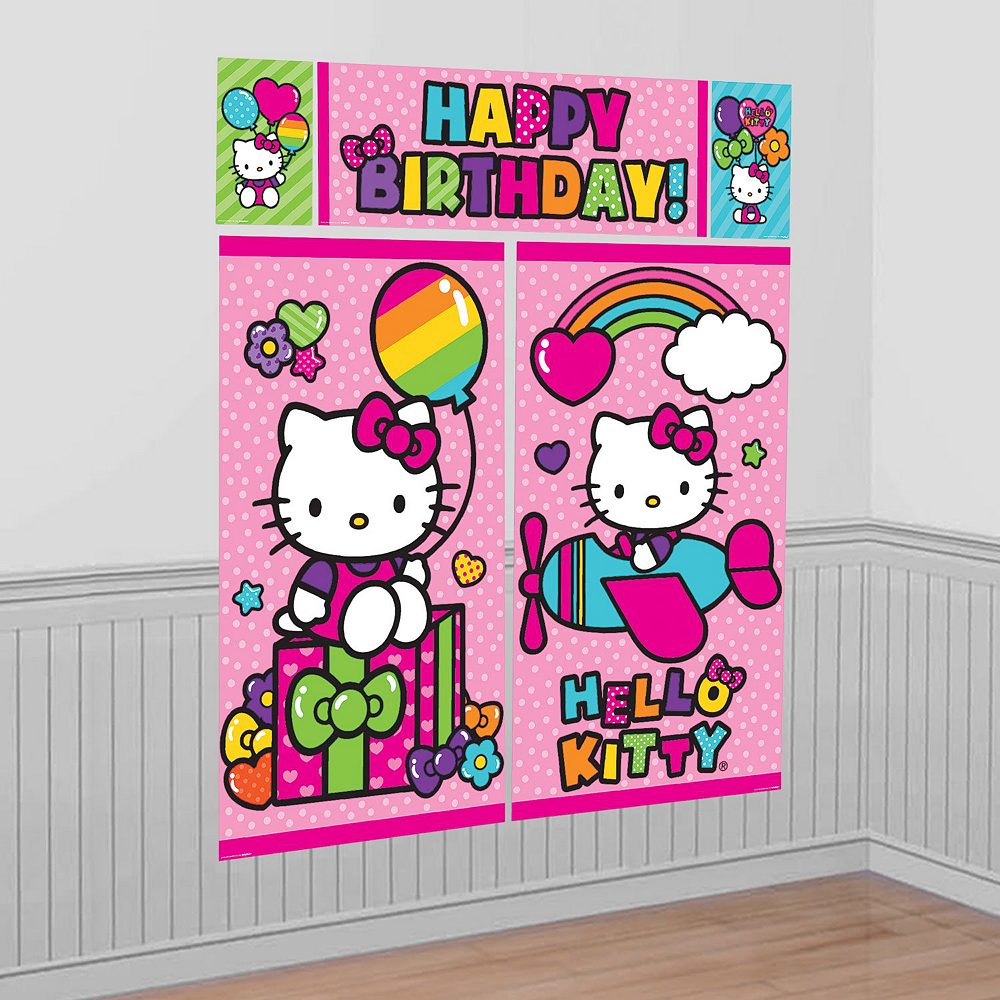 Rainbow Hello Kitty Tableware Ultimate Kit for 24 Guests Image #15