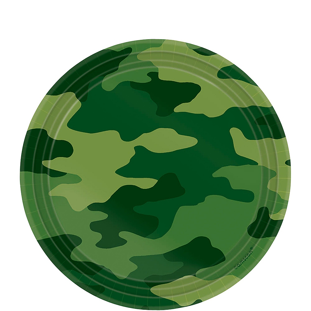 Camouflage Tableware Party Kit for 8 Guests Image #4