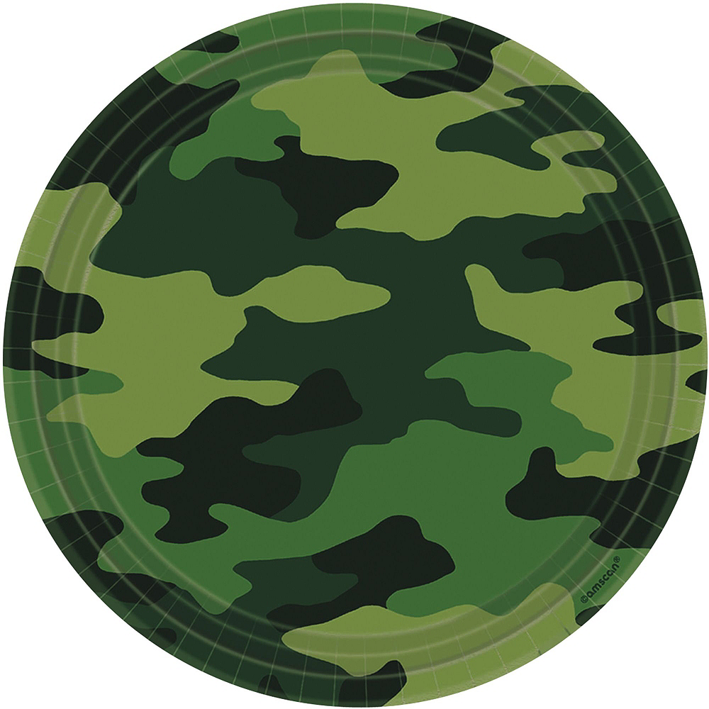 Camouflage Tableware Party Kit for 8 Guests Image #5