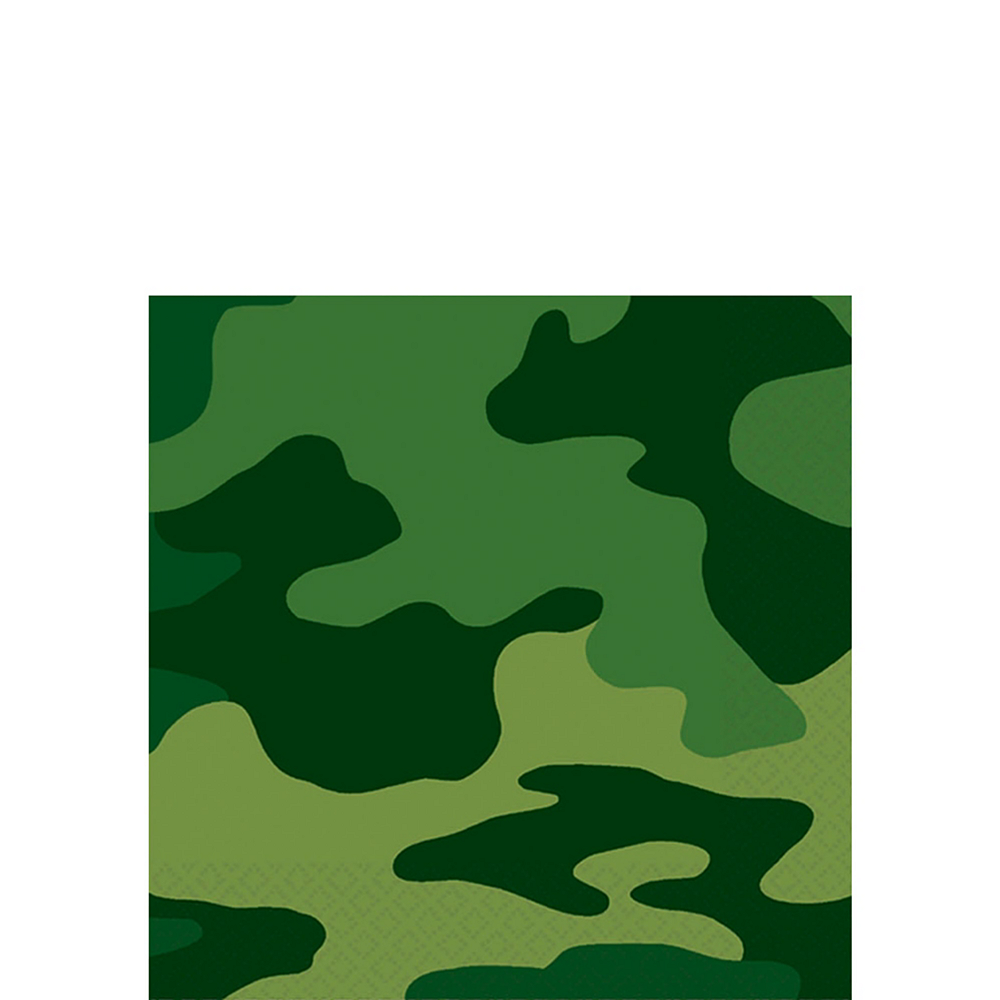 Camouflage Tableware Party Kit for 8 Guests Image #6