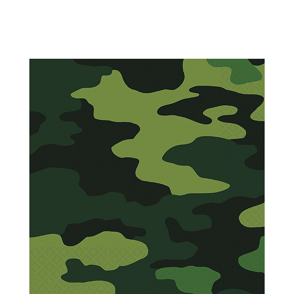 Camouflage Tableware Party Kit for 8 Guests Image #7