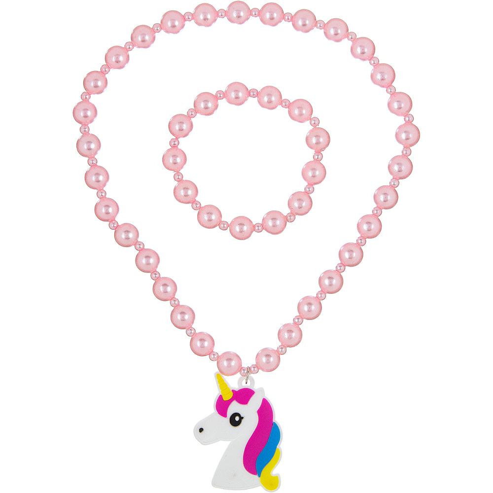 Pink Unicorn Jewelry Set 2pc Image #1