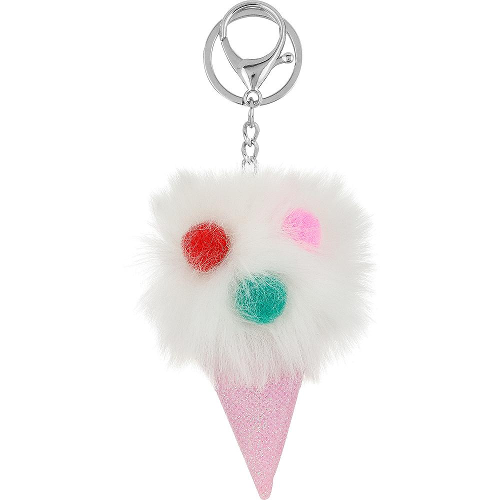 Ice Cream Pom-Pom Keychain Image #1