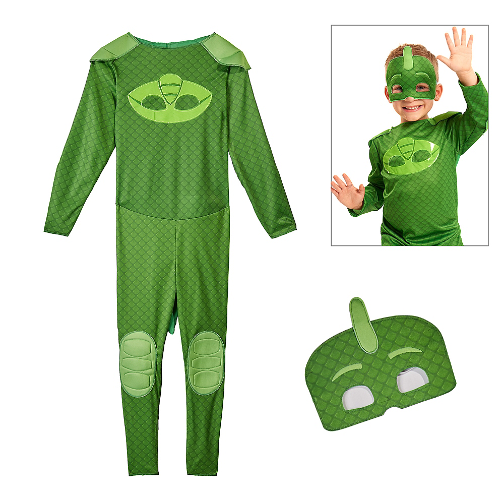 Pj Masks Halloween Costume.Child Gekko Costume Pj Masks