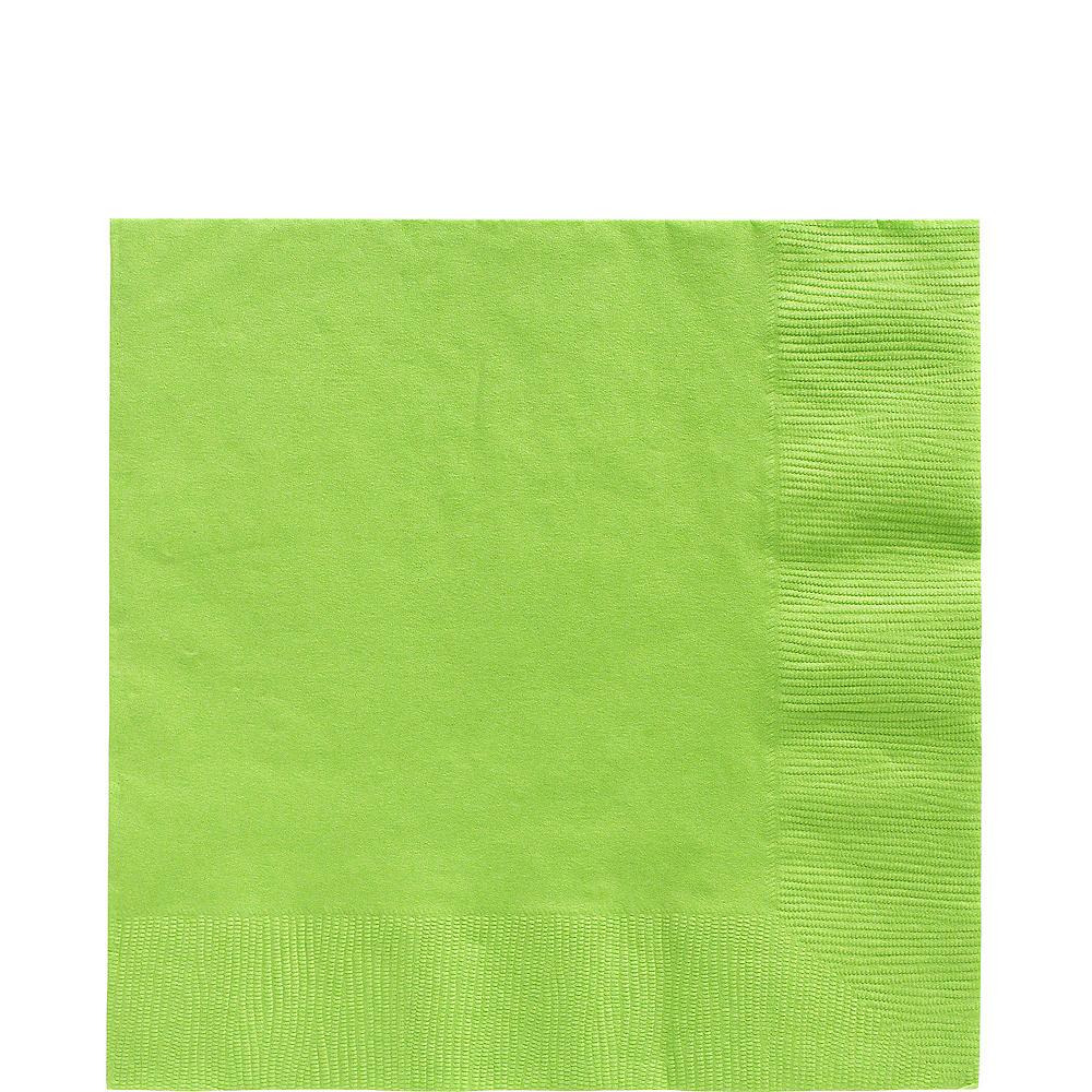 Kiwi Green Plastic Tableware Kit for 50 Guests Image #4