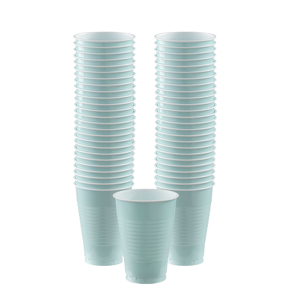 Robin's Egg Blue Plastic Tableware Kit for 50 Guests Image #5