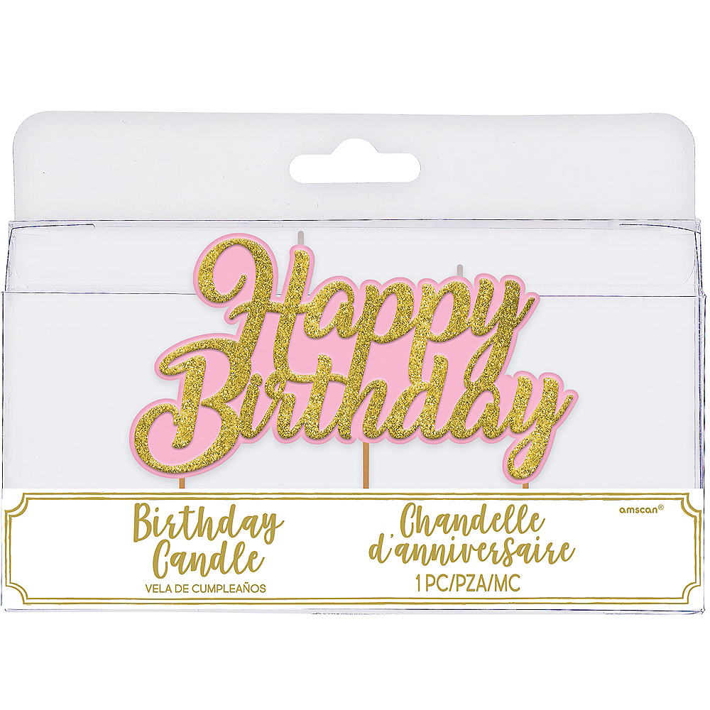 Glitter Happy Birthday Toothpick Candle Image 1