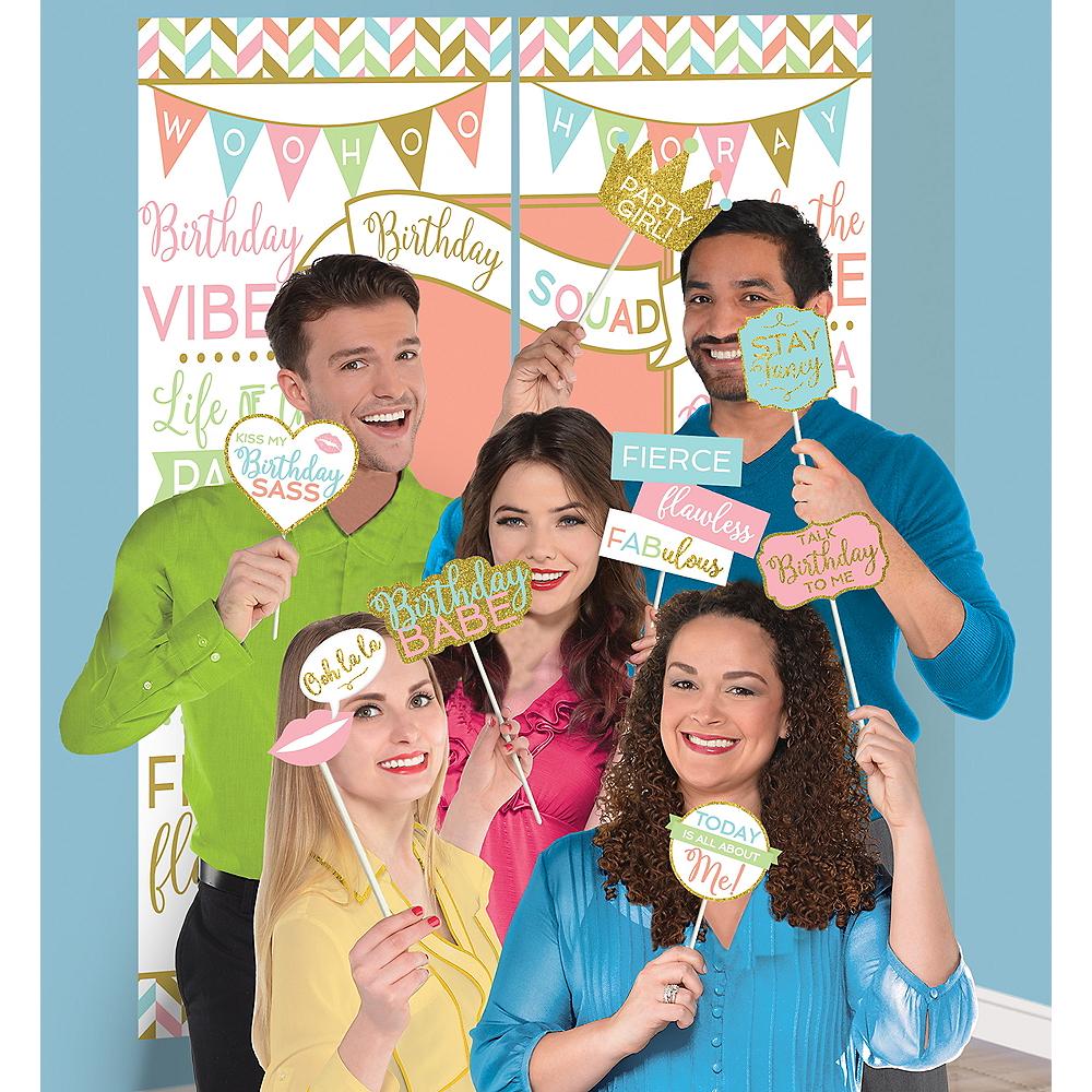Confetti Fun Birthday Scene Setter With Photo Booth Props Image 1