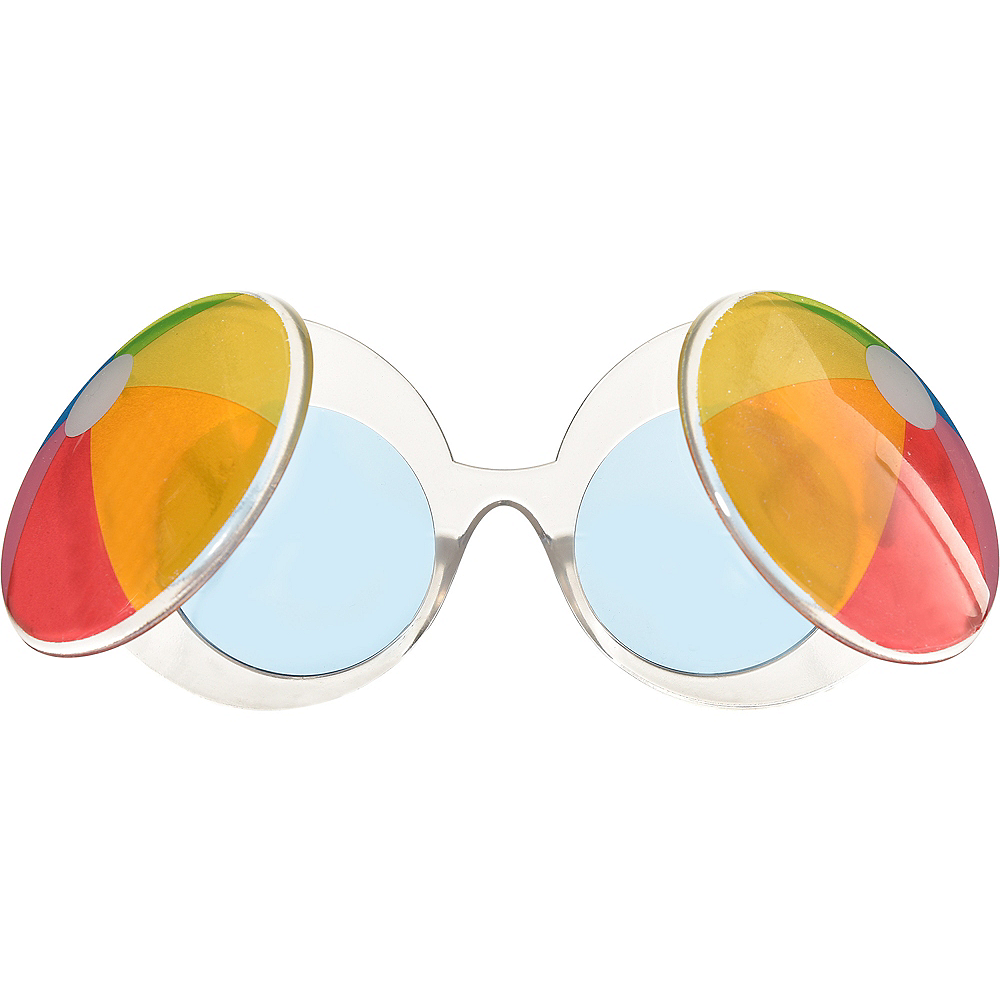 Beach Ball Sunglasses 6 1/2in x 3in | Party City