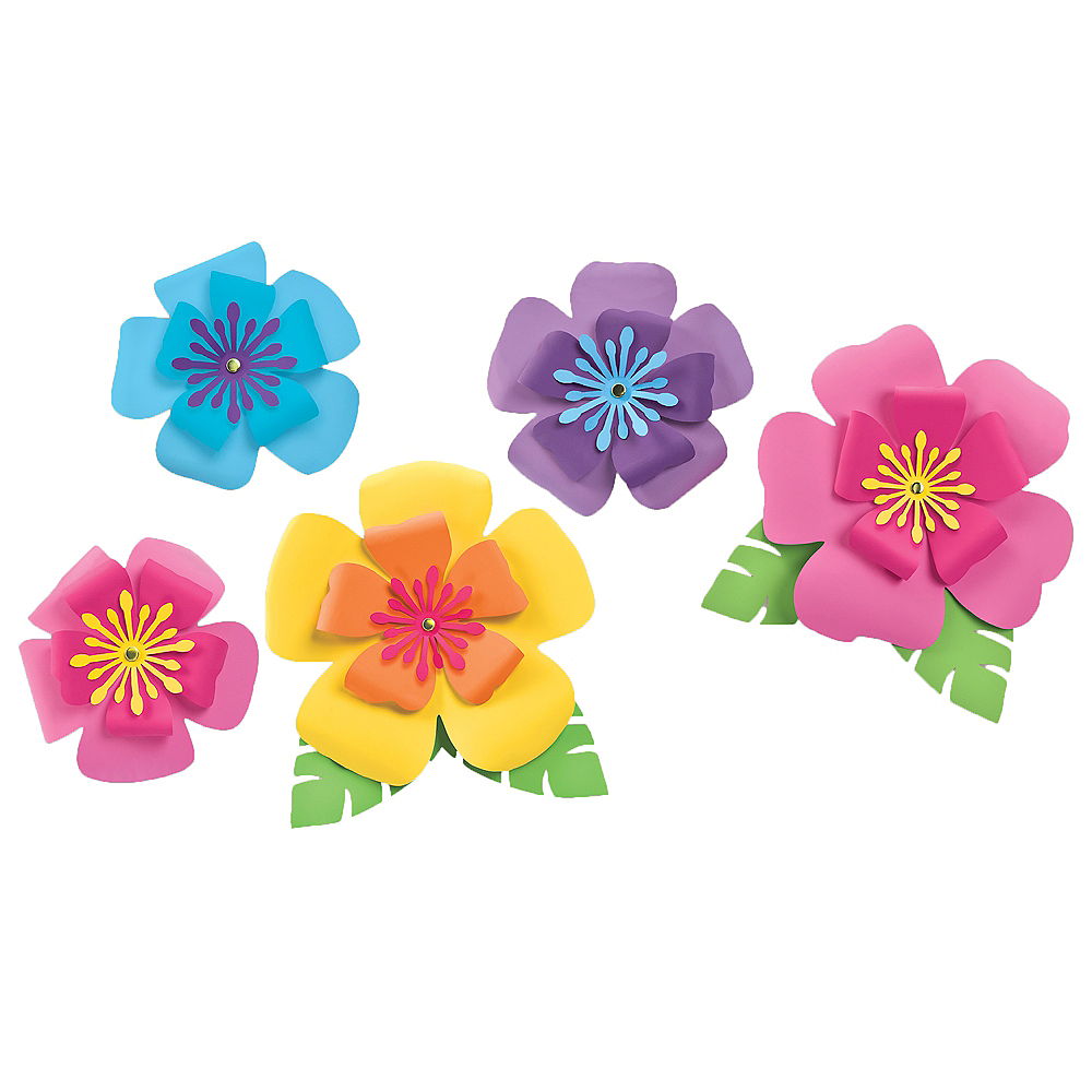 Hibiscus flower decorations 5ct party city hibiscus flower decorations 5ct image 1 izmirmasajfo