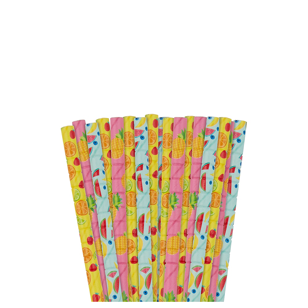 Hello Summer Flexible Paper Straws 24ct Image #1