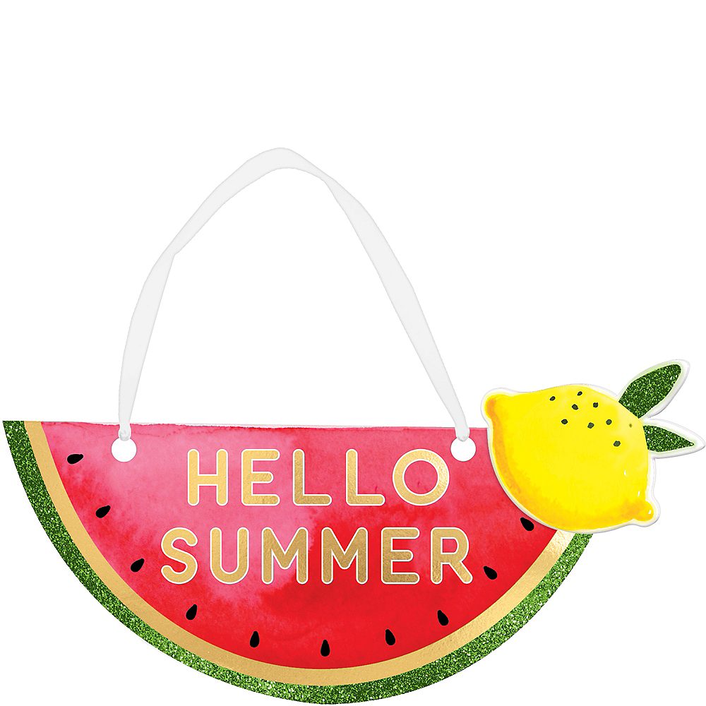 Mini Hello Summer Sign 8 1 2in X 4 1 2in Party City