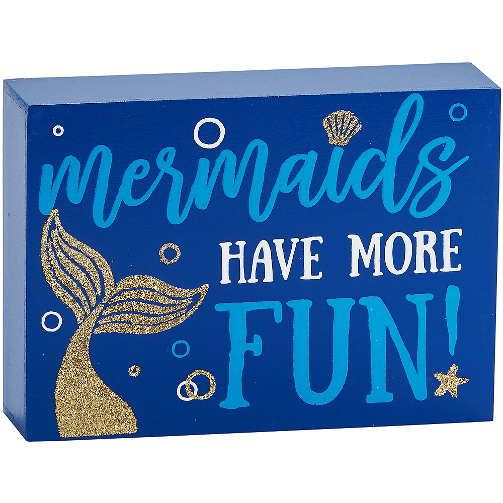 Glitter Mermaid Block Sign Image #1