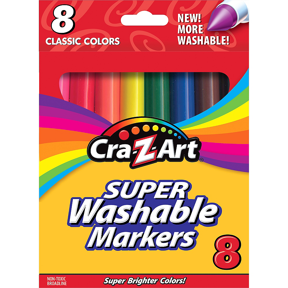 Cra-Z-Art Classic Super Washable Broadline Markers 8ct Image #1
