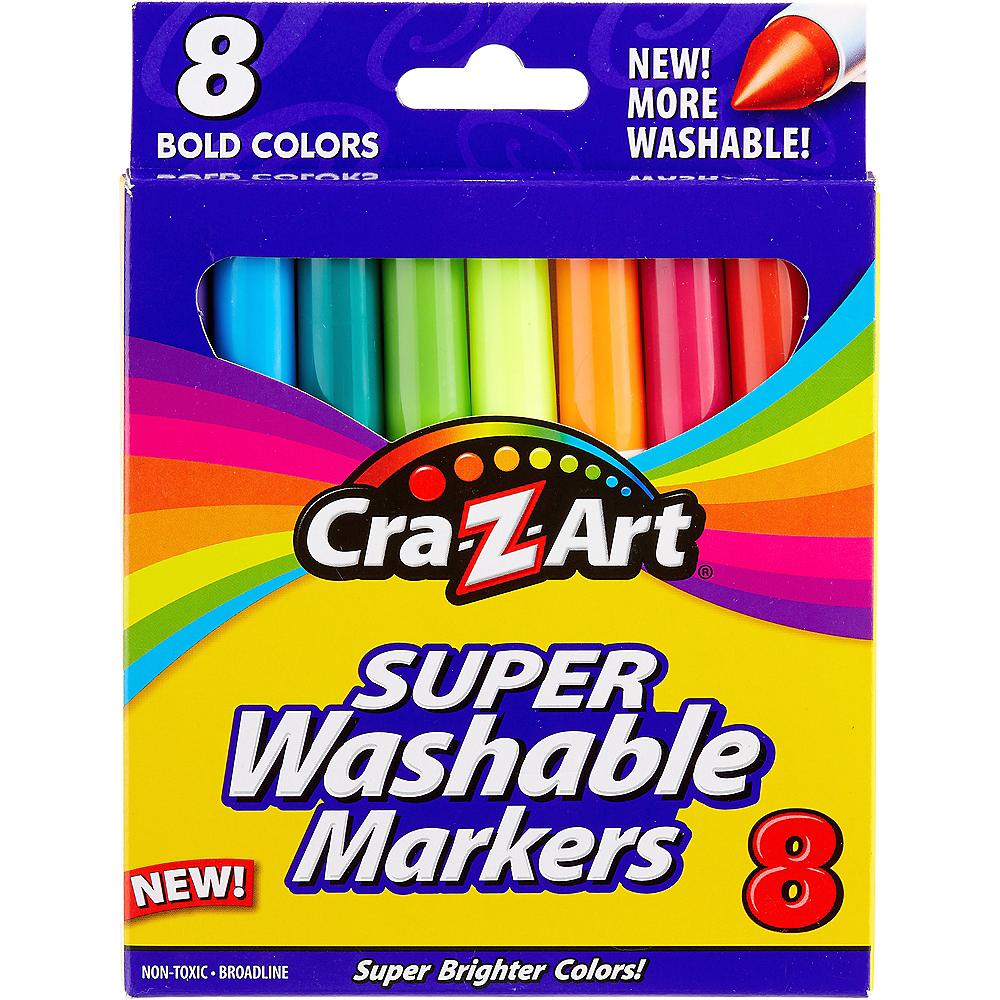 Cra-Z-Art Bold Super Washable Broadline Markers 8ct Image #1