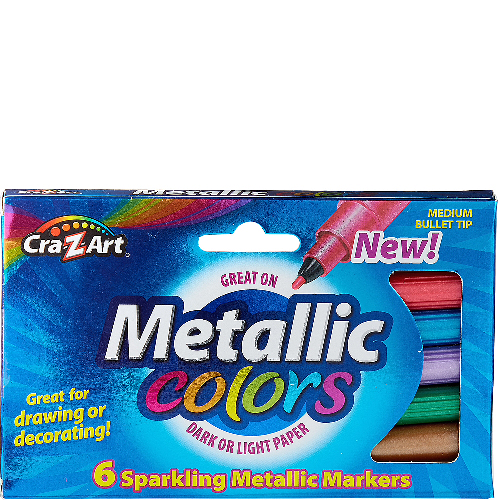 Cra-Z-Art Metallic Markers 6ct Image #1