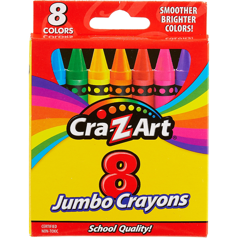 Nav Item for Cra-Z-Art Jumbo Crayons 8ct Image #1