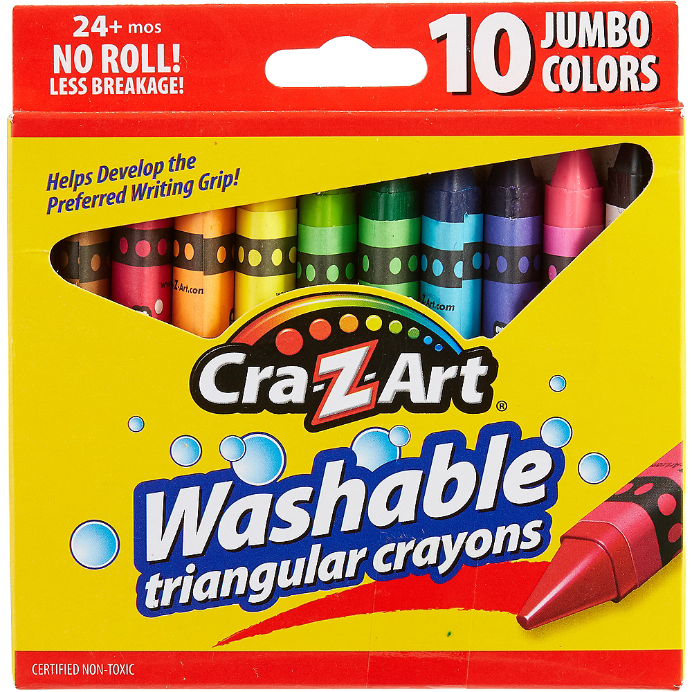 cra z art washable triangular crayons 10ct party favors party city