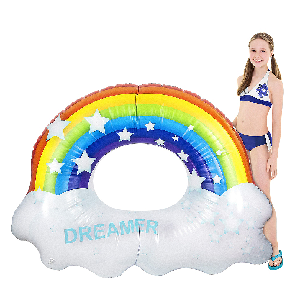 Giant Rainbow Pool Float Image #1