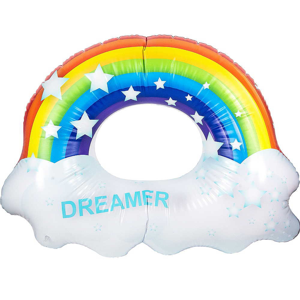 Giant Rainbow Pool Float Image #2