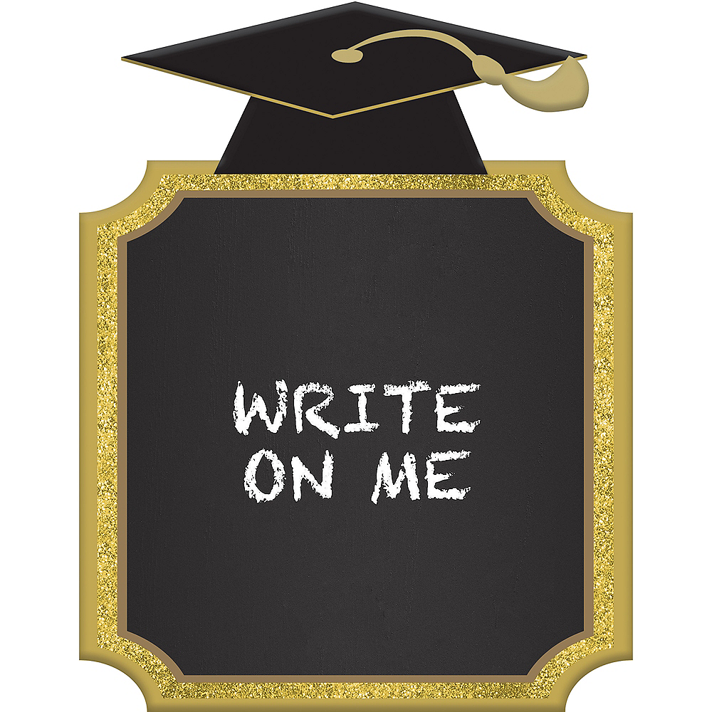 gold graduation chalkboard stand 7in x 9in party city