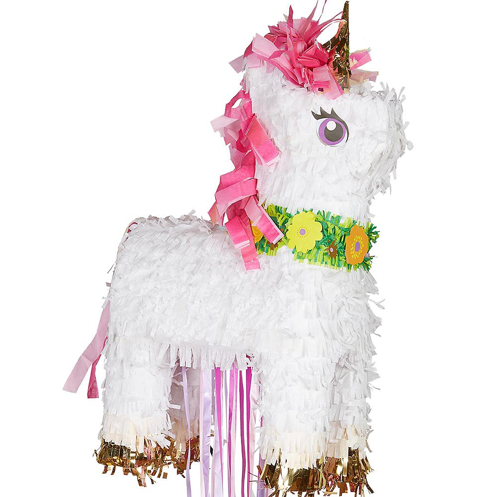 Pull String Sparkling Unicorn Pinata Image #1